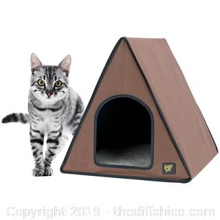 Frontpet A-Frame Heated Cat House For Outdoor & Indoor Cats (J32)