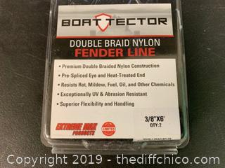 "Boact Tector Fender LIne Double Braided Nylon 3/8"" x 6' (J36)"