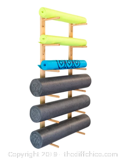 Ultra Fitness Gear OM Foam Roller & Yoga Mat Rack (J53)