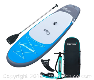 """Driftsun Explorer 10' 6"""" Inflatable Stand Up Paddleboard  (J54)"""