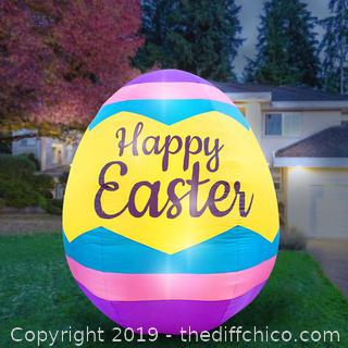 Holidayana Inflatable Easter Egg Decoration with Built-In Fan and LED Lights (J63)