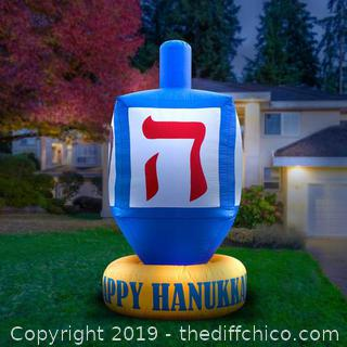 Holidayana Inflatable Dreidel Hanukkah Decoration with Built-In Fan and LED Lights (J73)