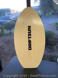 Driftsun Wood Skim Board with XPE Traction Pad, Lightweight and Durable - 40 Inch (J80)