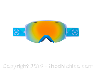 WINTERIAL FRAMELESS SKI & SNOWBOARD GOGGLES WITH CASE - TEAL (J85)