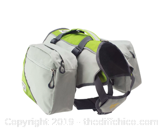 Frontpet Dog Harness Backpack with Removable Saddle Bags (J90)