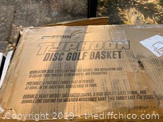 Driftsun Typhoon Heavy Duty Portable Disc Golf Basket (J99)