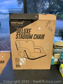 Driftsun Folding Stadium Seat, Reclining Bleacher Chair - Grey (J118)