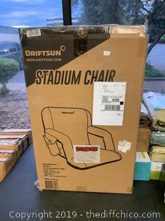 Driftsun Folding Stadium Seat, Reclining Bleacher Chair - Blue (J125)