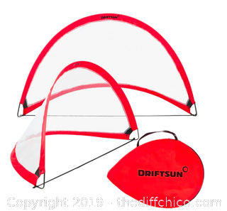 Driftsun Portable Pop Up Soccer Goal Set - 6 Foot (Adult) (J147)