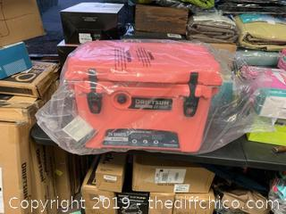 Driftsun 20 Quart Performance Ice Chest - Insulated Rotomolded Cooler - Coral (J153)