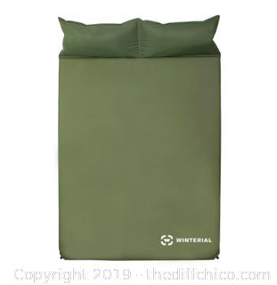 WINTERIAL DOUBLE SELF INFLATING SLEEPING PAD - GREEN (J163)