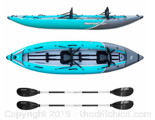 Driftsun Rover 220 Inflatable Two Person Whitewater Kayak (J55)