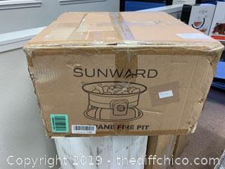 Roll over image to zoom in Sunward Portable Outdoor Patio Propane Fire Pit  (J196)