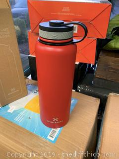 WINTERIAL 40OZ STAINLESS STEEL WATER BOTTLE - RED (J200)
