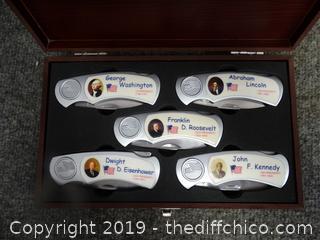 President Pocket Knife Set NIB