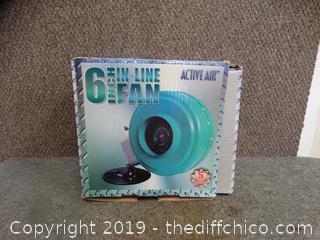 """NIB 6"""" Inline Fan"""