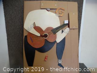 NIB Guitarist Wall Art