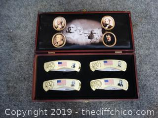 President Pocket Knife Set NIB