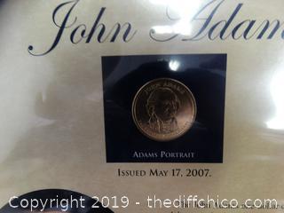 John Adams Presidential Dollar Coin