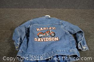Harley Davidson Jean Jacket and Coveralls Size 4-5