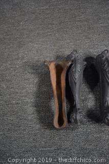 3 Cast Iron Feet