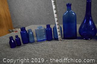 Cobalt Blue Bottle Collection