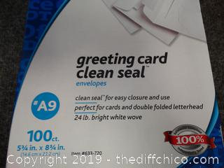 Office Depot Greeting Card Clean Seal