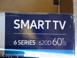 "Samsung Smart TV 60"" no base set up for wall mount"