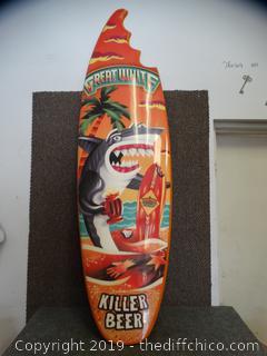 Killer Beer Surf Board Wall Decor