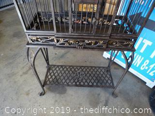 2 Piece Bird Cage Metal