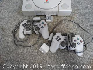 Sony Playstation with 2 Remotes