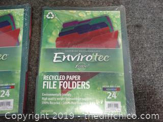 NIB Recycled File Folders