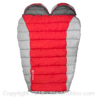 WINTERIAL DOUBLE MUMMY BAG - RED (J13)