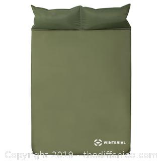 WINTERIAL DOUBLE SELF INFLATING SLEEPING PAD - GREEN (J14)