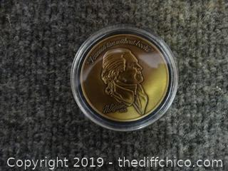 Thomas Jefferson Brass Coin
