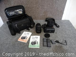 Canon Eox Rebel XT Camera With Batteries and a 75-300 MM Lens