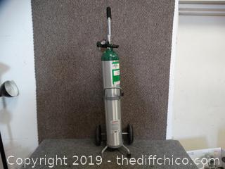 Compressed Oxygen with cart