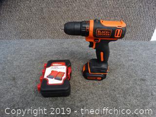 Black & Decker Drill wks & NIB Drill Bits