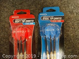 3 Soft Tip Darts 3 Steel Tip Darts NIB