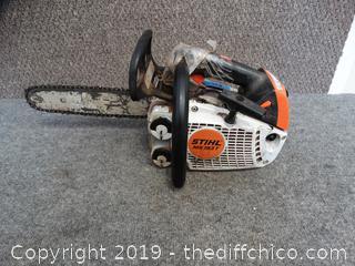 """Stihl 10"""" MS 193T Chain Saw Has Compression"""