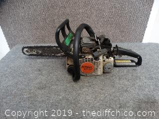 "Stihl  10 ""ms170 Chainsaw Parts only"
