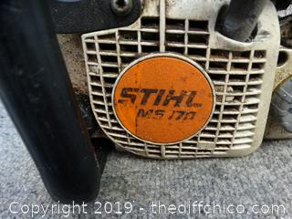 """Stihl  10 """"ms170 Chainsaw Parts only"""
