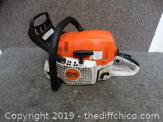 Stihl ms 311 Chainsaw Engine Has Compression