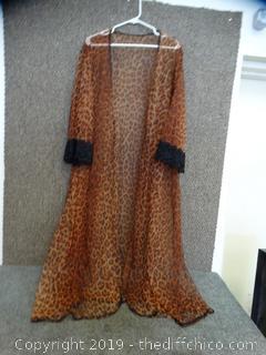Cheetah Sheer Robe