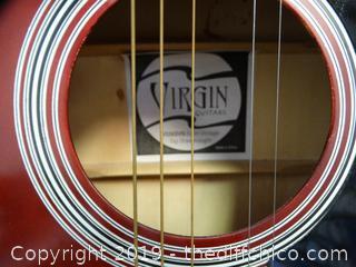 Virgin Guitar W/Case New Strings