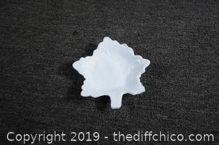 Milk Glass Maple Leaf