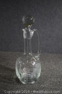 Etched Decanter w/Stopper