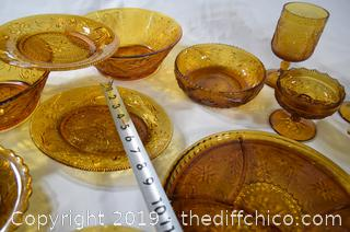 26 Pieces of Amber Glass
