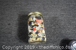Jar of Vintage Buttons