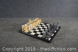 Chess Set - Soapstone - 14in x 14in